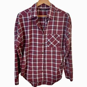 Brandy Melville Plaid Button Down Shirt